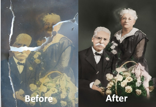 Photo Restoration of Torn Photograph